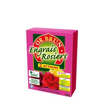 Engrais naturel rosiers et arbustes OR BRUN 800gr  8 m²