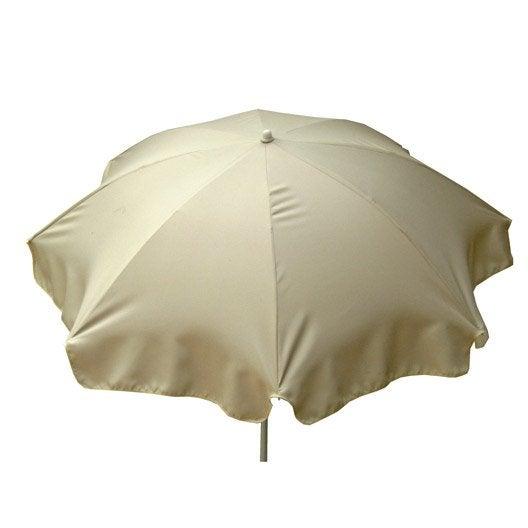 Parasol droit lola blanc ivoire rond x cm leroy merlin - Blanc comme l ivoire ...