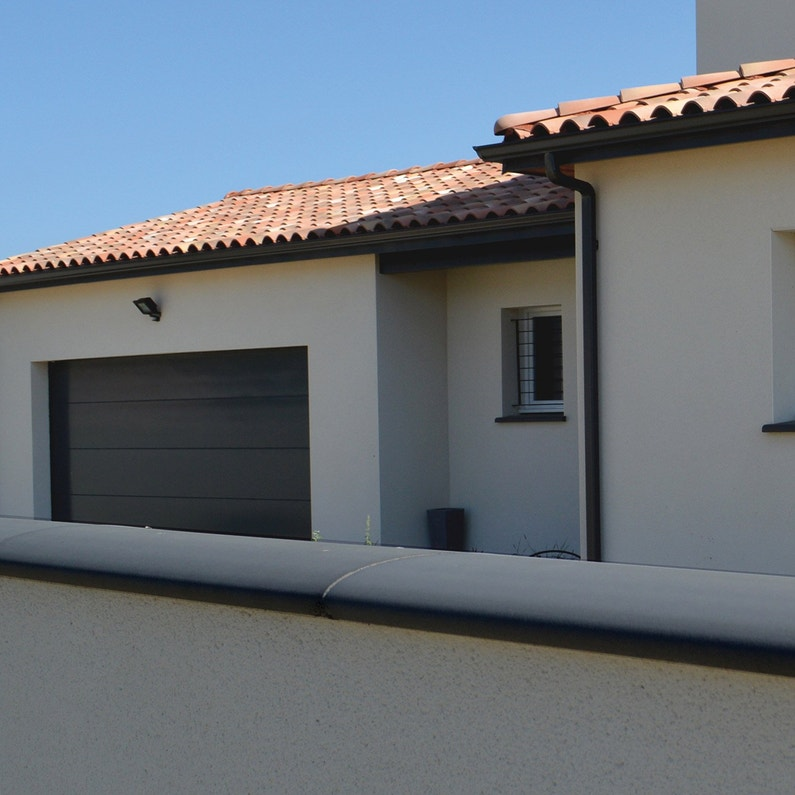 Couvre Mur Arrondi Lisse Gris H6 X L28 X P100 Cm