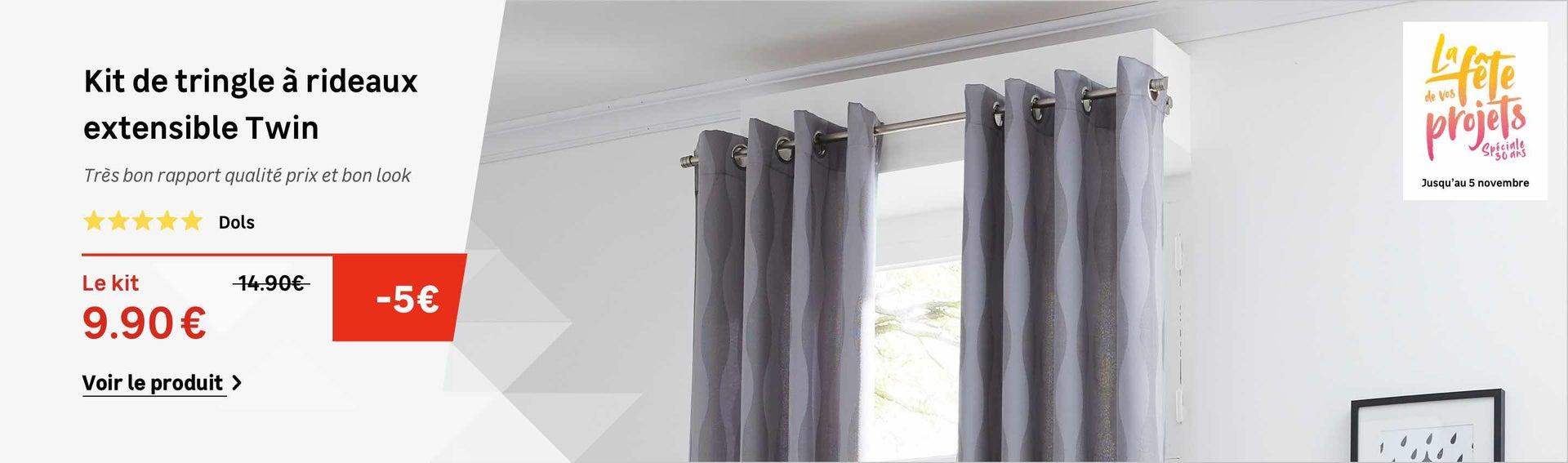 Tringle à rideaux, barre, rail et câble | Leroy Merlin