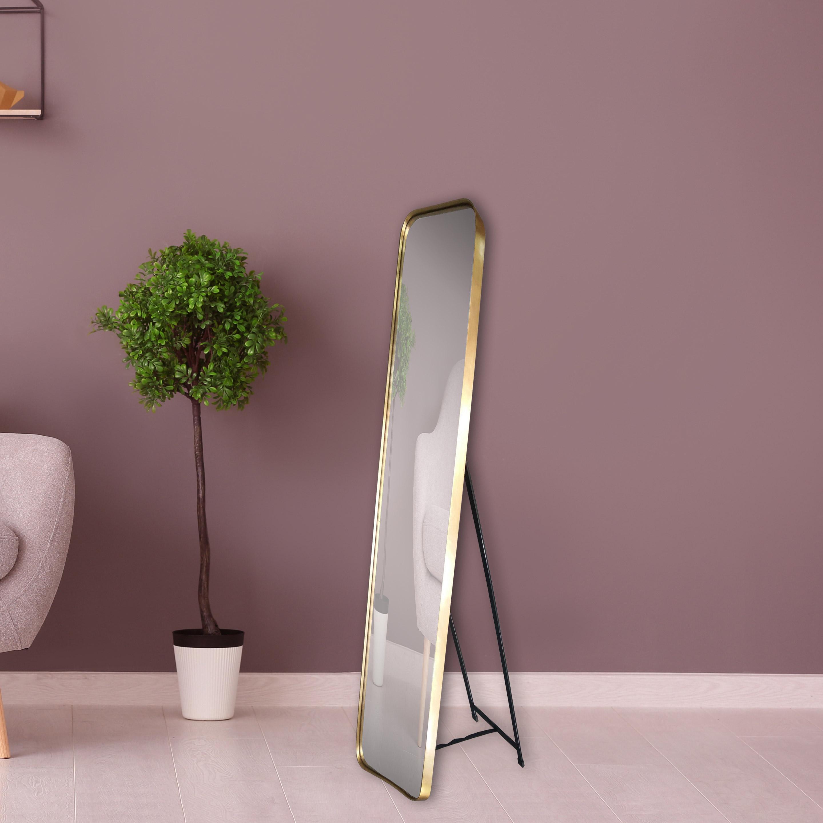 Miroir rectangulaire Psyché, dorée, l.150.5 x H.30.5 cm