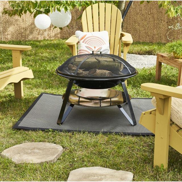 Tapis De Jardin Barbecue Noir L120 X L100 Cm Leroy Merlin