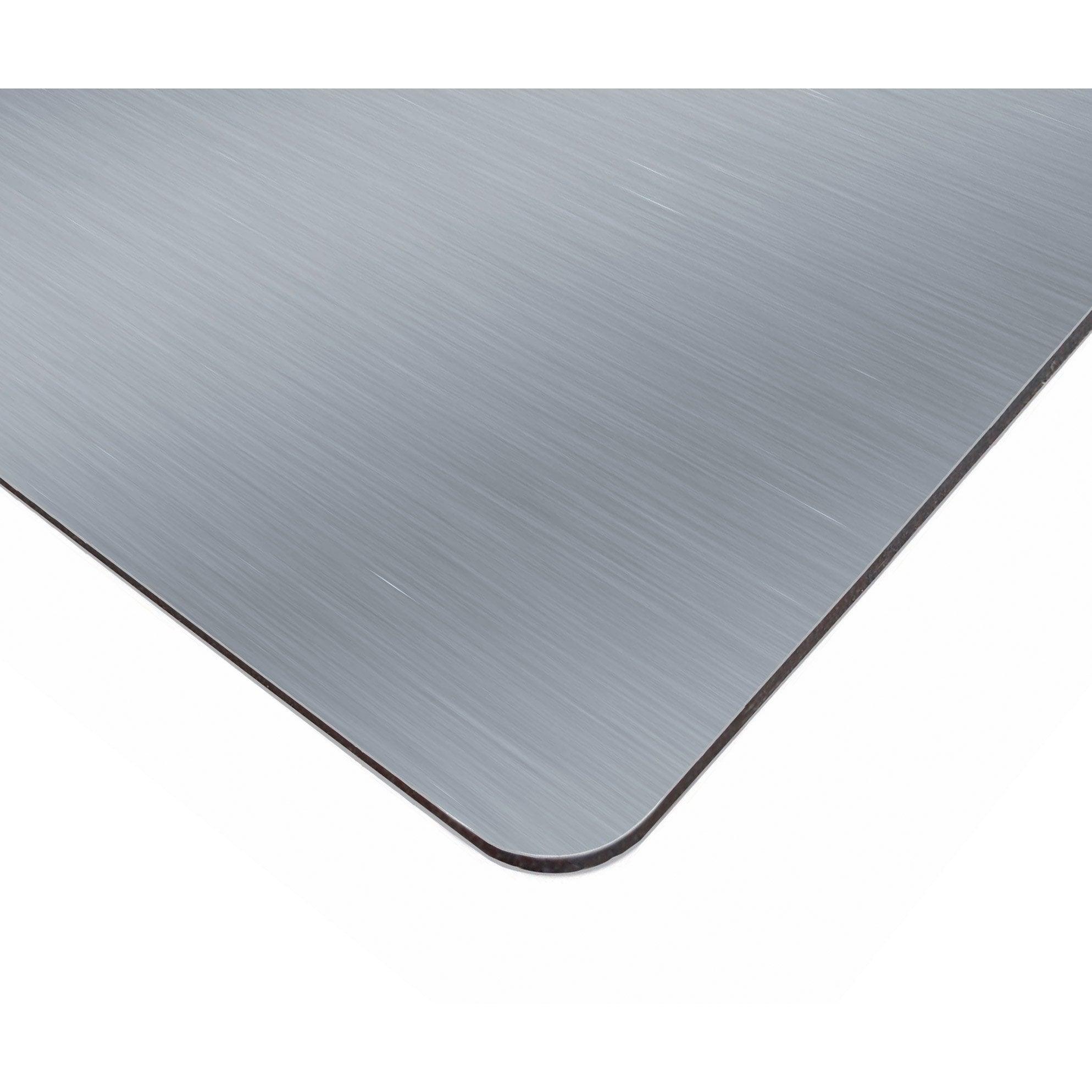Plaque Composite Aluminium 3 Mm Gris Lisse L 305 X 150 Cm Leroy