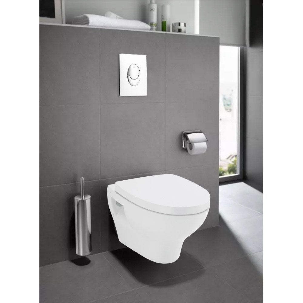 Wc Suspendu Grohe Dimension pack wc suspendu bâti sol double rapid sl et pop blanc grohe / roca