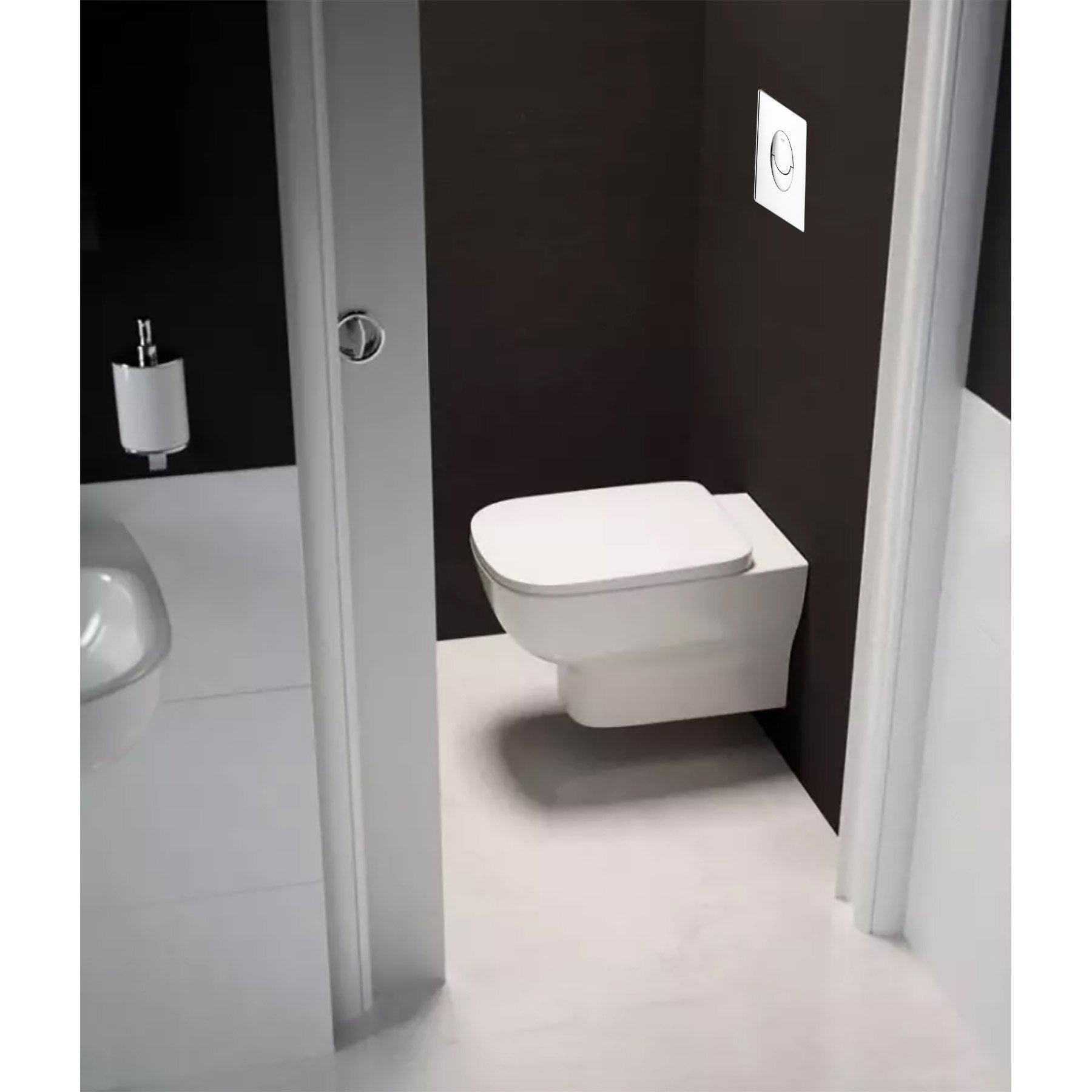Comment Installer Un Wc Suspendu Grohe pack wc suspendu bâti sol double rapid sl et kheops blanc grohe