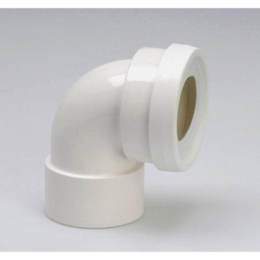 pipe de wc courte en angle de 90 c cm girpi leroy merlin. Black Bedroom Furniture Sets. Home Design Ideas