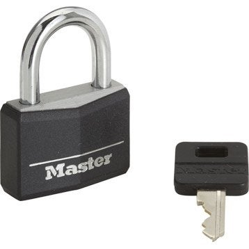 Cadenas à clé MASTERLOCK aluminium, l.40 mm