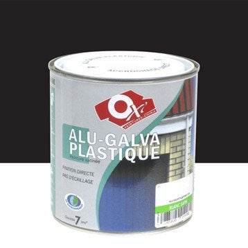 peinture alu galva plastique ext rieure int rieure oxytol noir 0 5 l. Black Bedroom Furniture Sets. Home Design Ideas