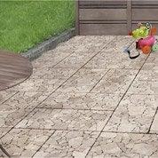 Lot de 2 dalles clipsables SNAP & GO en pierre naturelle beige, L60xl30cmxEp25mm