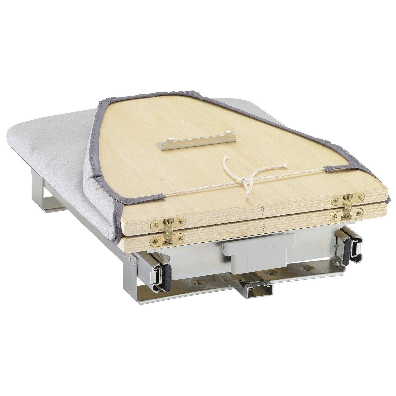 Table Repasser Rabattable Gris H 13 X L 35 X P 80 Cm Leroy Merlin # Meuble En Planche