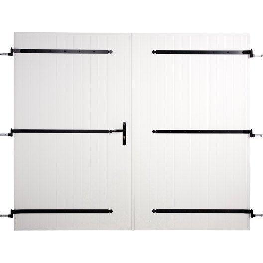 Porte de garage 2 vantaux ARTENS H.200 x l.240 cm