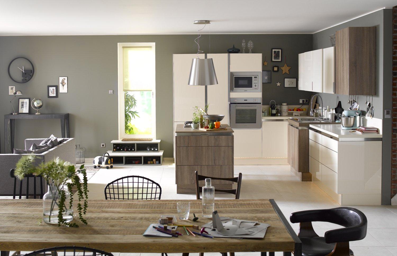 la cuisine offre de beaux volumes leroy merlin. Black Bedroom Furniture Sets. Home Design Ideas