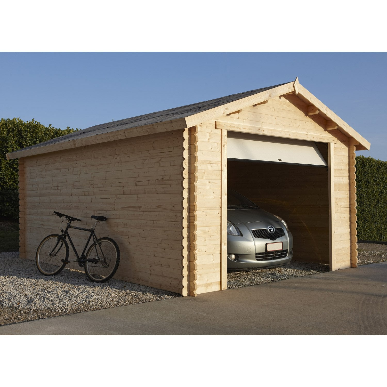 garage bois nova 1 voiture, 16.91 m² | leroy merlin
