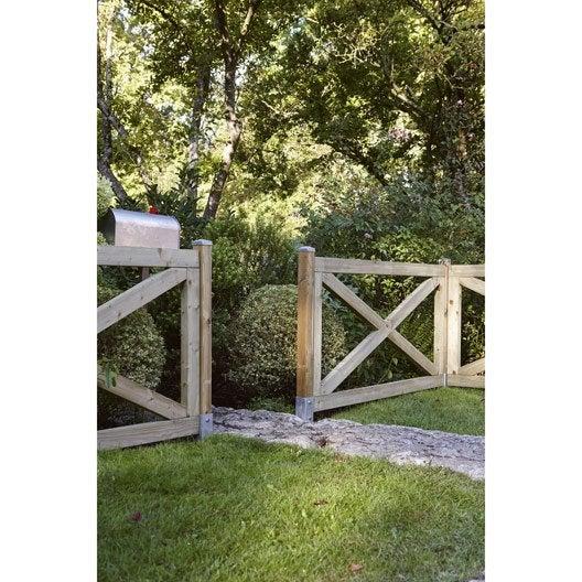 Barrière bois  Panneau, barrière et palissade (bois  ~ Leroy Merlin Bois Composite