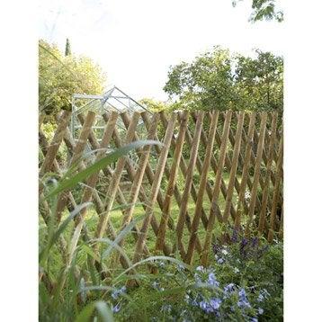 Barrière bois Primo naturel, H.100 x l.250 cm