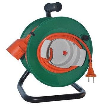 Rallonge lectrique et enrouleur enrouleur lectrique d rouleur au meilleur prix leroy merlin - Rallonge electrique 25m ...