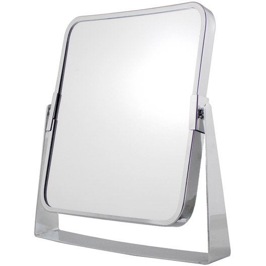 Miroir grossissant x 2 rectangulaire poser x l for 2 miroir face a face