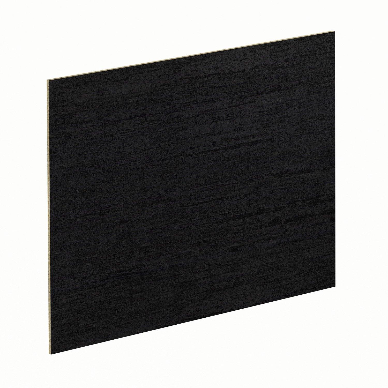 cr dence stratifi effet m tal noir luna noir cm x cm leroy merlin. Black Bedroom Furniture Sets. Home Design Ideas
