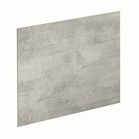 Crédence stratifié Gris métal / effet étain H.64 cm x L.300 cm