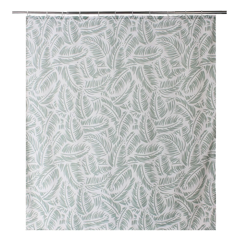 Curtain Green Cloth Shower 180 X 200 Cm Palm Sensea