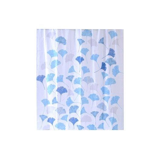 rideau de douche en textile multicolore x cm ginko sensea leroy merlin. Black Bedroom Furniture Sets. Home Design Ideas