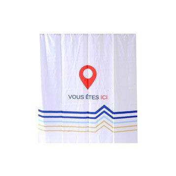 Rideau de douche en textile multicolore l.180 x H.200 cm, Vous êtes ici SENSEA