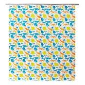 Rideau de douche en plastique multicolore l.180 x H.200 cm, Splash SENSEA
