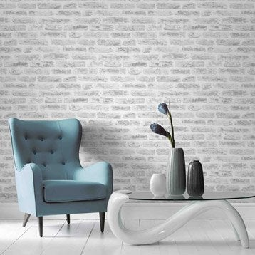 Papier peint intissé Industry blanc