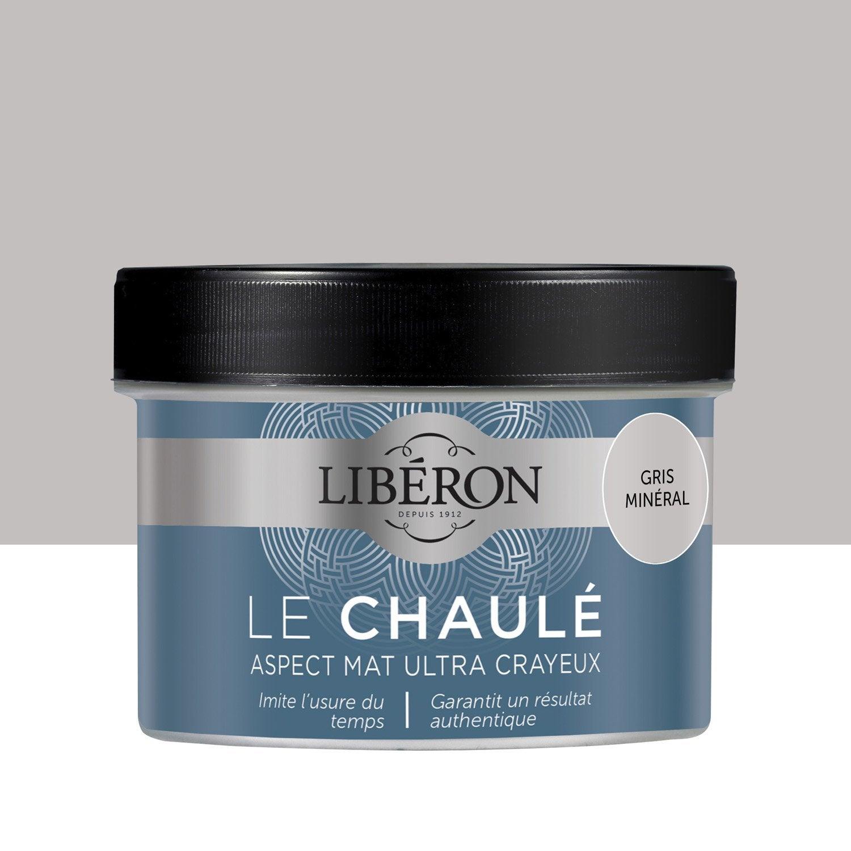 Peinture pour meuble objet et porte liberon effet chaul gris min ral leroy merlin - Peinture liberon pour meuble ...
