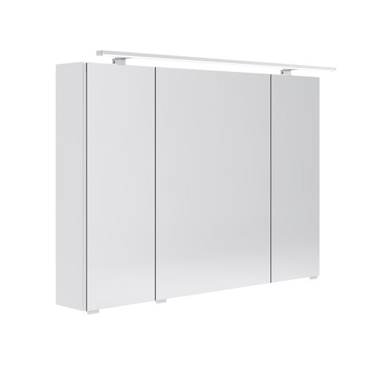 armoire de toilette lumineuse l 100 cm blanc opale. Black Bedroom Furniture Sets. Home Design Ideas