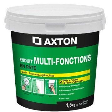 Enduit multifonction pâte blanc cassé AXTON, 1.5 kg