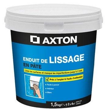 Enduit de lissage pâte blanc cassé AXTON, 1.5 kg