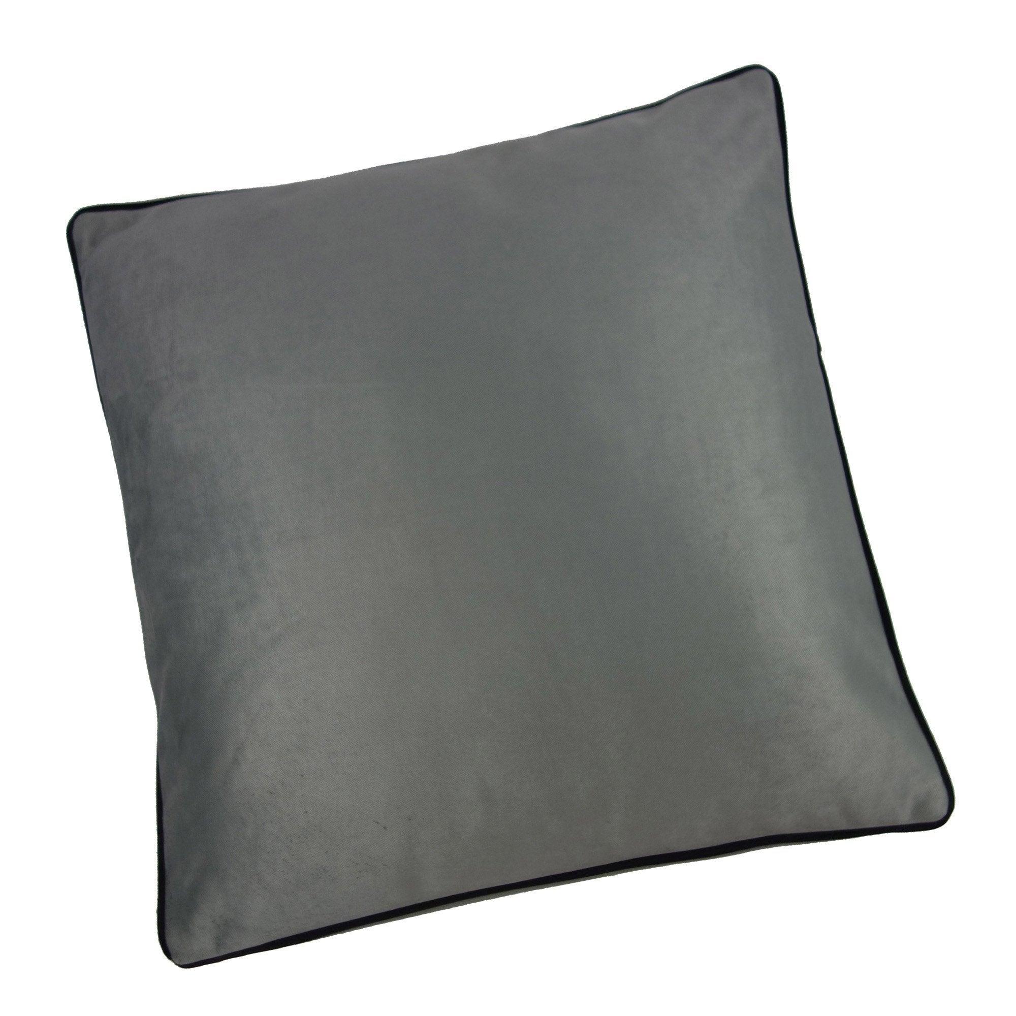 Coussin Bristol chic, gris l.80 x H.80 cm
