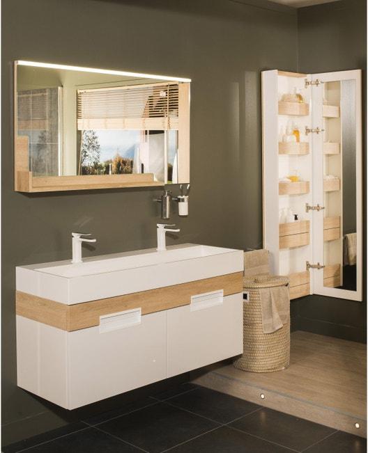 Meuble de salle de bains double vasque, Eden | Leroy Merlin