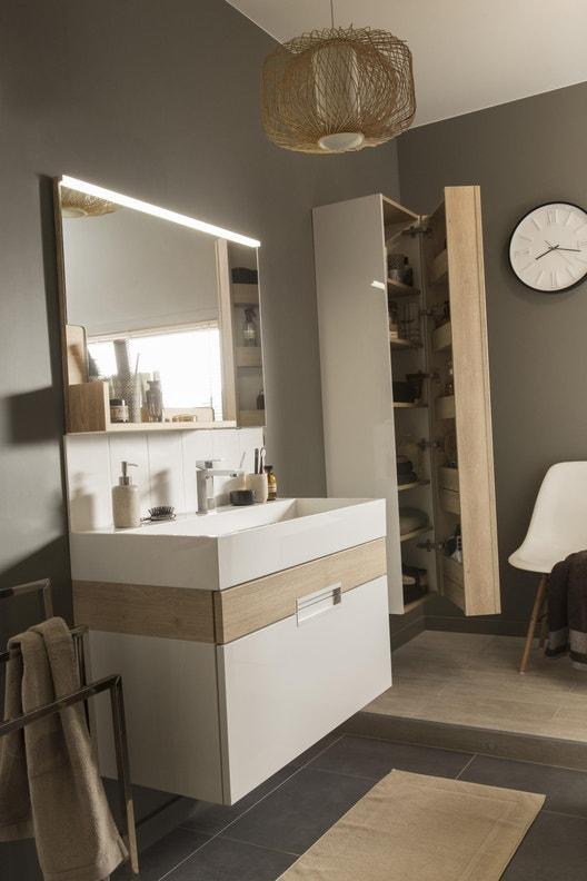 Meuble de salle de bains simple vasque, Eden | Leroy Merlin