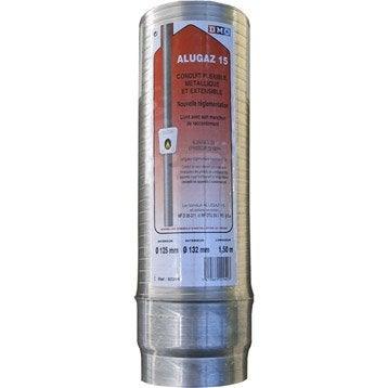 Gaine extensible alugaz diamètre 111/118 mm long. 1.50 m