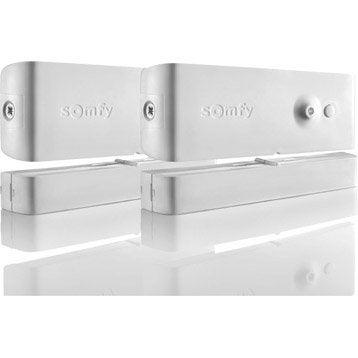 Lot de 2 détecteurs d'ouverture  pour alarme maison SOMFY blanc