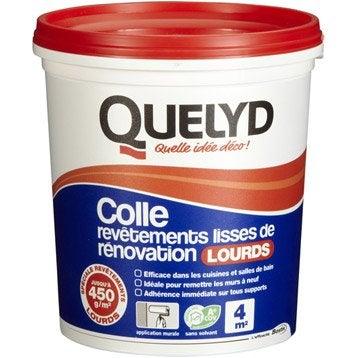 Colle revêtement mural lourd Revêtement lourd QUELYD, 1 kg