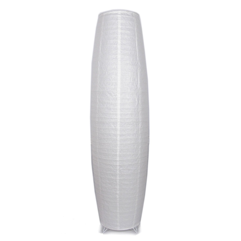 Abat-jour Anjo, 24 cm, papier, blanc INSPIRE | Leroy Merlin