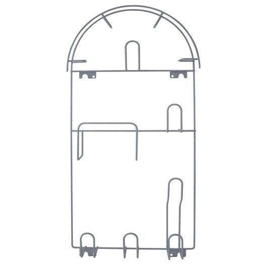 porte aspirateur gris spaceo x x p 7 cm leroy merlin. Black Bedroom Furniture Sets. Home Design Ideas