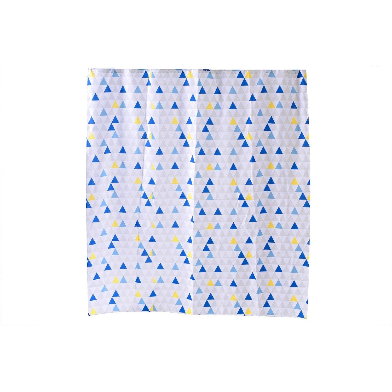 Rideau de douche en textile multicolore l.180 x H.200 cm, Geometric SENSEA