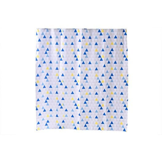 rideau de douche en textile multicolore x cm geometric sensea leroy merlin. Black Bedroom Furniture Sets. Home Design Ideas