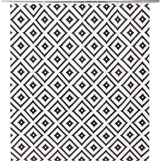 rideau de douche en plastique noir x cm ethnic sensea leroy merlin. Black Bedroom Furniture Sets. Home Design Ideas
