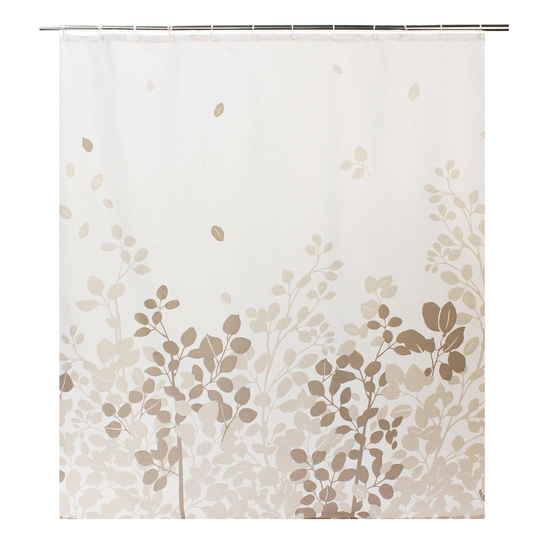 Rideau De Douche En Textile Gris Galet N 3 L 180 X H 200 Cm Leaf Sensea