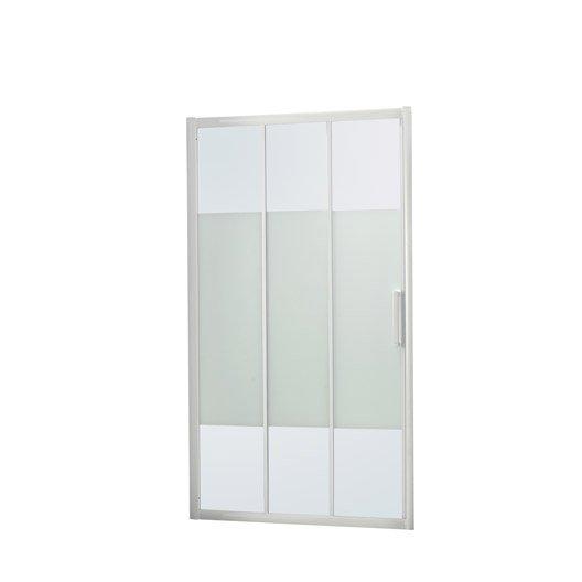 Porte de douche coulissante l 100 5 cm verre s rigraphi for Porte de douche 100