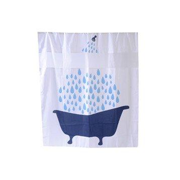 Rideau de douche en textile multicolore l.180 x H.200 cm, See you SENSEA