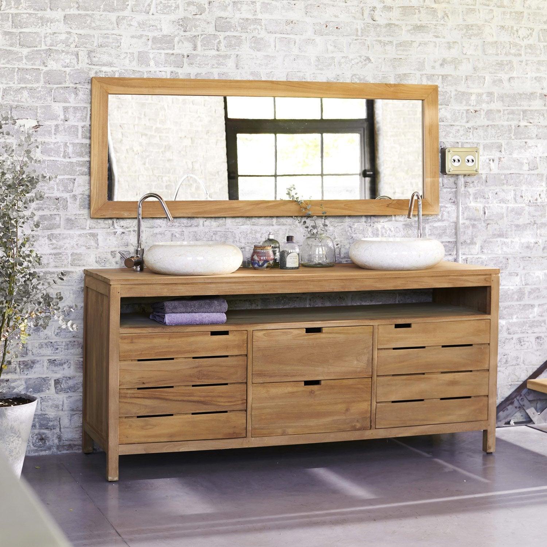 Meuble de salle de bains plus de 120 marron Serena