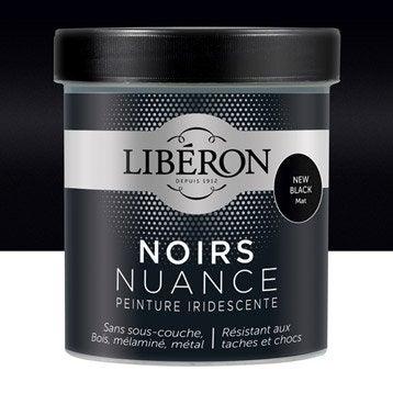 Peinture pour meuble, objet et porte, mat, LIBERON, Noir nuance, new black 0.5