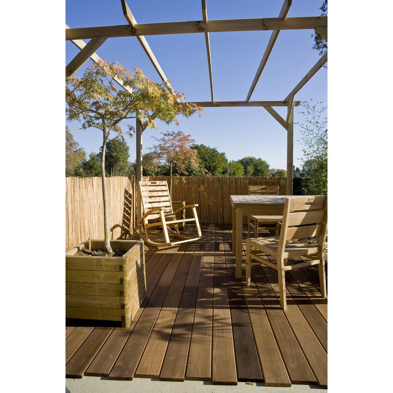 pergola autoportante glycine bois naturel 9 m leroy. Black Bedroom Furniture Sets. Home Design Ideas