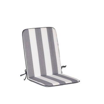 Coussin d'assise de chaise ou de fauteuil blanc / gris Evy